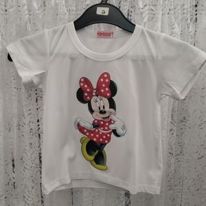 Girls T-Shirt - Red Polka Dot Minnie Mouse